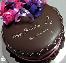 Write Name on Cake Happy Birthday Chocolate Cake With Name