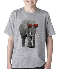 elephant wearing sunglasses kids t shirt