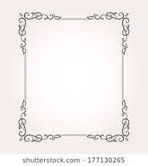 Calligraphic Frame And Page Decoration Vector Illustration