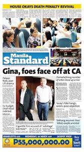 Cabinet Agencies Of The Philippines by Manila Standard 2017 March 08 Wednesday By Manila Standard Issuu