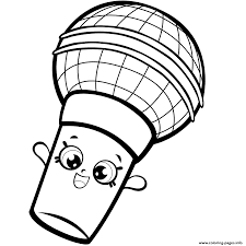 Season 7 Microphone Colouring Page Seven Shopkins 2017 Coloring Pages Print Download