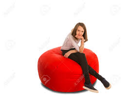 Young Cute Girl Sitting On Round Shape Red Beanbag Chair Isolated.. Bean Bag Factory Soccer Chair Cover Stuffed Animal Storage Seat Plush Toys Home Organizer Beanbag Amazoncom Ball Sports Kitchen Kids Comfort Cubed Teen Adult Ultra Snug Fresco Misc Blue Gold Nfl Los Angeles Rams Pretty Elementary Age Little Girl On Sports Day Balancing Cotton Evolve Faux Suede Gax Sport Large Small Classic Chairs Sofa Snuggle Outdoor And Indoor Big Joe In Sportsball