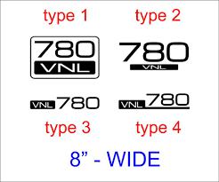 100 Semi Truck Logos 2pcs VOLVO VNL 780 Vinyl Decal Sticker Emblem Logo