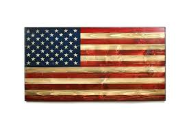 Welcome Home M Wooden American Flag