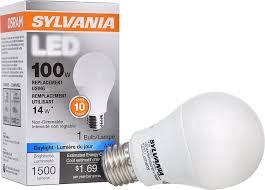 sylvania 100w equivalent led light bulb a19 l 1 pack