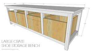 alluring shoe storage bench plans and best 25 shoe rack bench