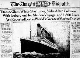 Titanic Sinking Simulation Real Time by Titanic Newspaper Articles Titanic Newspaper Article The Times