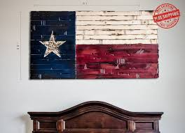 Texas State Flag Rustic Wood Decor Huge Version