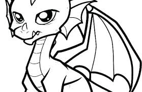 Fire Breathing Dragon Coloring Page Pages Fresh