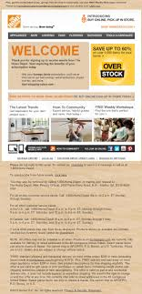 The Home Depot email marketing wel e email