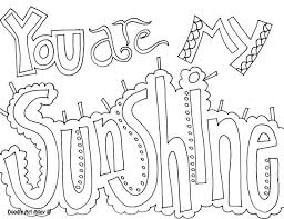 Quote Coloring Page You Are My Sunshine