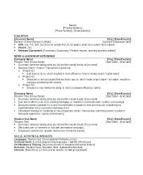 Resume Sample Activities And Interests Interest Examples Unique Entry Level Banking Template Example