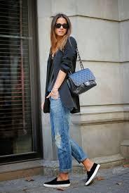 women u0027s black blazer black leather sleeveless top blue ripped