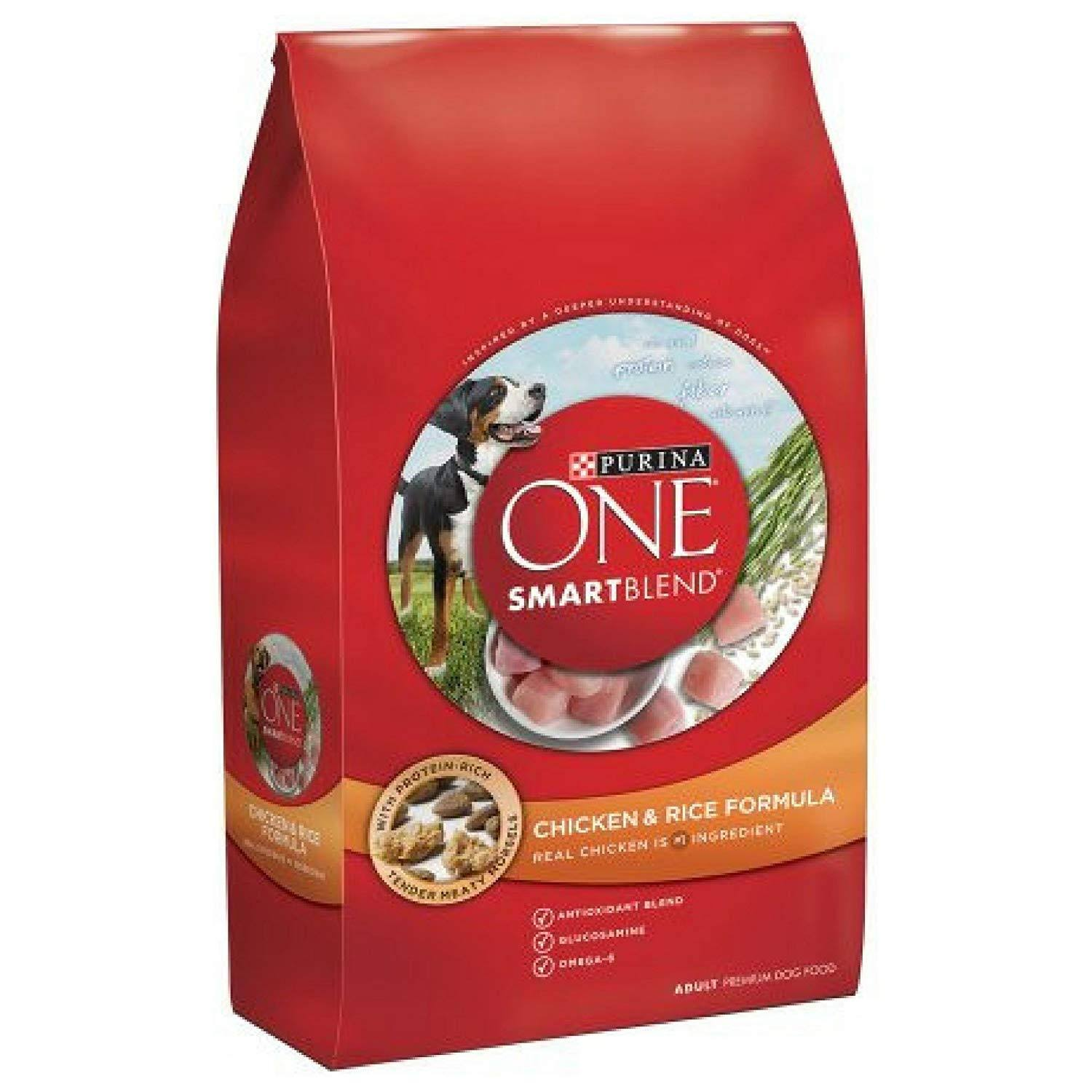Purina One SmartBlend Lamb & Rice Formula Adult Premium Dry Dog Food, 16.5 lb