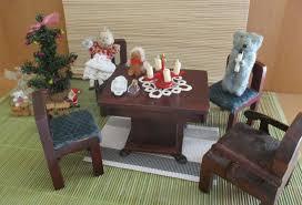 altes puppenstuben wohnzimmer weihnachten möbel mit zubehör