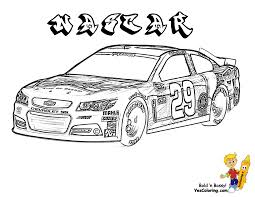 NASCAR Fast Sports Cars Coloring At YesColoring Pictures