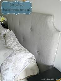 Diamond Tufted Headboard With Crystal Buttons by How To Make A Diy Tufted Headboard From Thrifty Decor