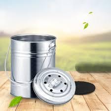 kompostbehälter küche abfalleimer outdoor coutertop holzkohlefilter eimer