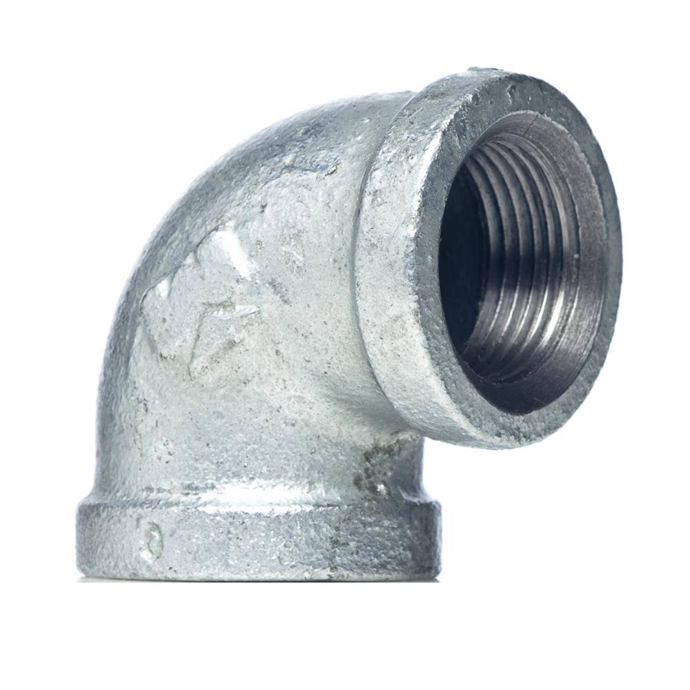 Mueller Global Galvanized Malleable Iron 90-Degree Elbow - 1/2""