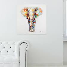 acryl gemälde elefanten handgemaltleinwand bilder 150x50cm