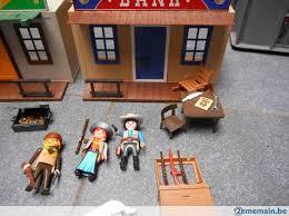 bureau playmobil playmobil bank bureau de shérif valisette a vendre 2ememain be