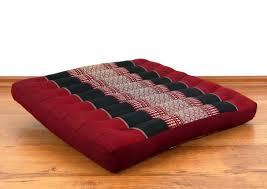 asiatisches sitzkissen stuhlkissen rot schwarz groß