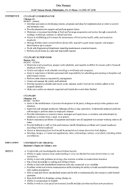Download Culinary Resume Sample As Image File