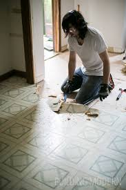 diy kitchen renovation peal and stick tile kitchen floor demo diy