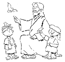 Special Jesus And Children Coloring Page Best Awesome Ideas