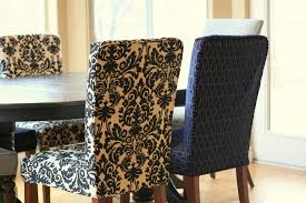 Complex Black White Floral Dining Room Chair Cover Design