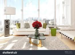 100 Urban Loft Interior Design Roses Sofa View City Stock Illustration Royalty