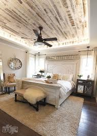 OMG That Ceiling Modern French Country Farmhouse Master Bedroom Design