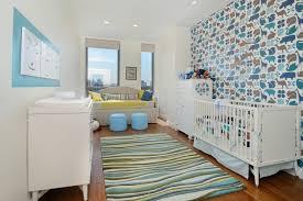 papier peint chambre bébé décoration chambre bébé en 30 idées créatives pour les murs