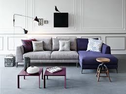 designer canapé canapé gris avec méridienne violette de design italien par pianca