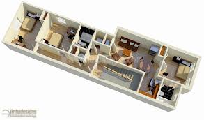 2nd Floor Plan Rendering