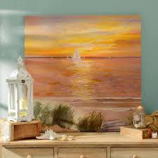 Beach Sunset Over The Sea Art Prints