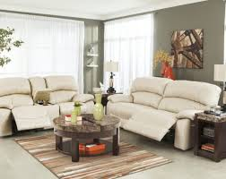 Darrin Leather Reclining Sofa With Console by Sofa Recliner Sofa Sets Impressive Reclining Sofa Chair Set