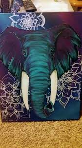 Boho Elephant Art Custom Painting With Mandalas