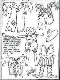 Coloring Pages Scarecrow For Toddlers Paper Doll Page Preschool Printables Halloween Pictures