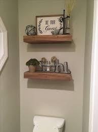 Half Bath Bathroom Decorating Ideas by Best 25 Bathroom Shelf Decor Ideas On Pinterest Half Bathroom