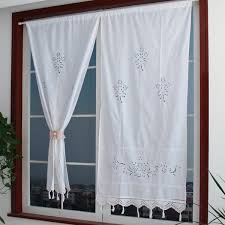 Details About Bedroom Home Cotton Tape Top Curtains Window Drape Hand Crochet Panel Decor