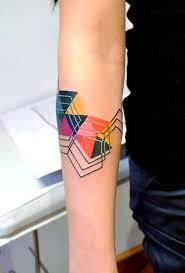 Abstract Geometric Tattoo Idea