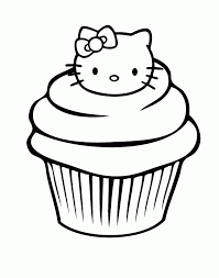 Related Clip Arts 11 Pics of Birthday Cupcake Coloring Pages Printable Cupcake