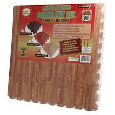 interlocking wood grain foam floor mat tiles