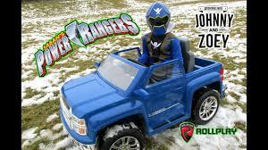 100 Power Wheels Chevy Truck POWER WHEELS Silverado POWER RANGERS Unboxing Aria Child Roll