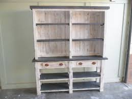 Image Is Loading Reclaimed Wood Hutch Custom Made Kitchen Dining Vintage
