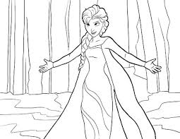 Disney Princess Elsa Coloring Pages Free To Print Tamne1