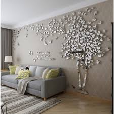 Acrylic Beautiful Tree And Birds Pattern 3D Wall Stickers For Livingroom Home Decoration Right