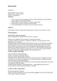 Sample Resume Of Sales Executive For Pdf