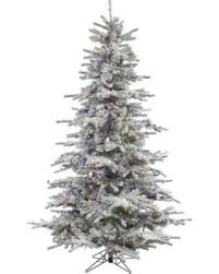 Sierra Flocked Pre Lit LED Christmas Tree